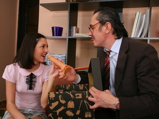 Lustful teacher bought his cute student a dildo as a present.